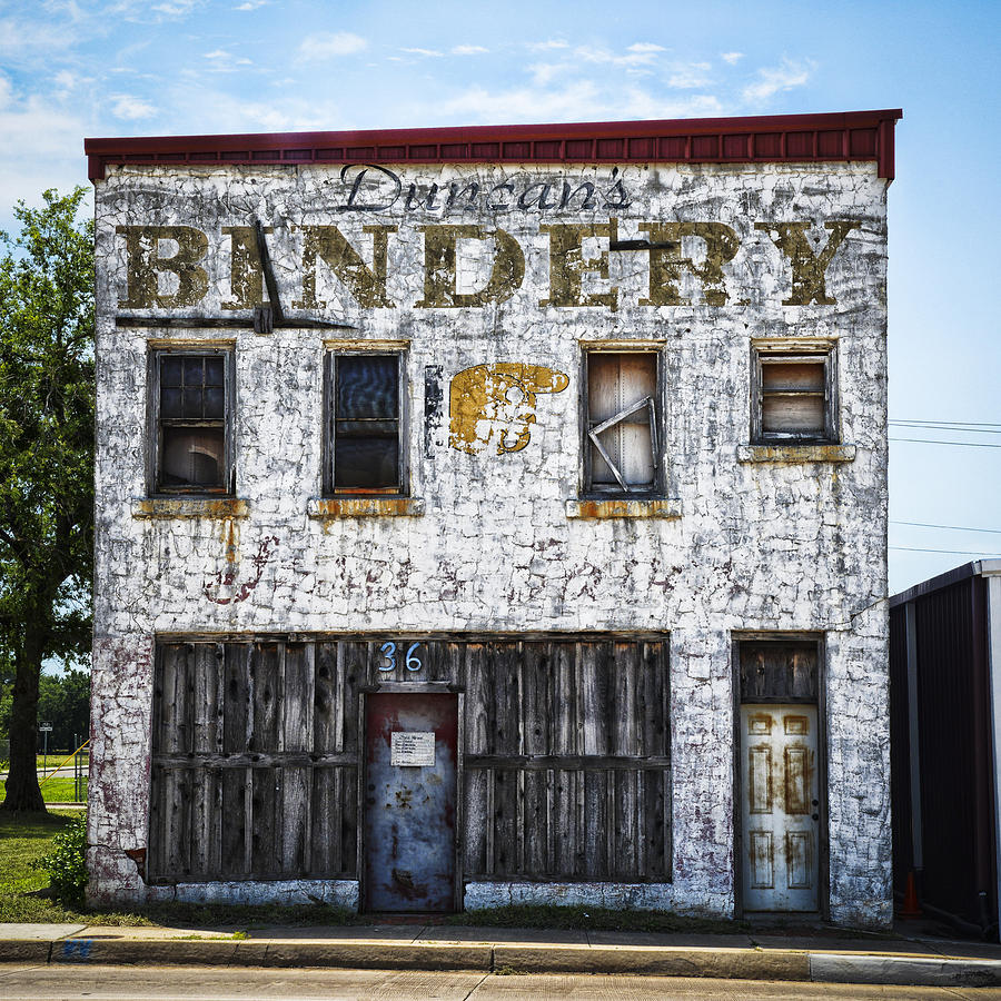 duncan bindery building front photograph by david waldo