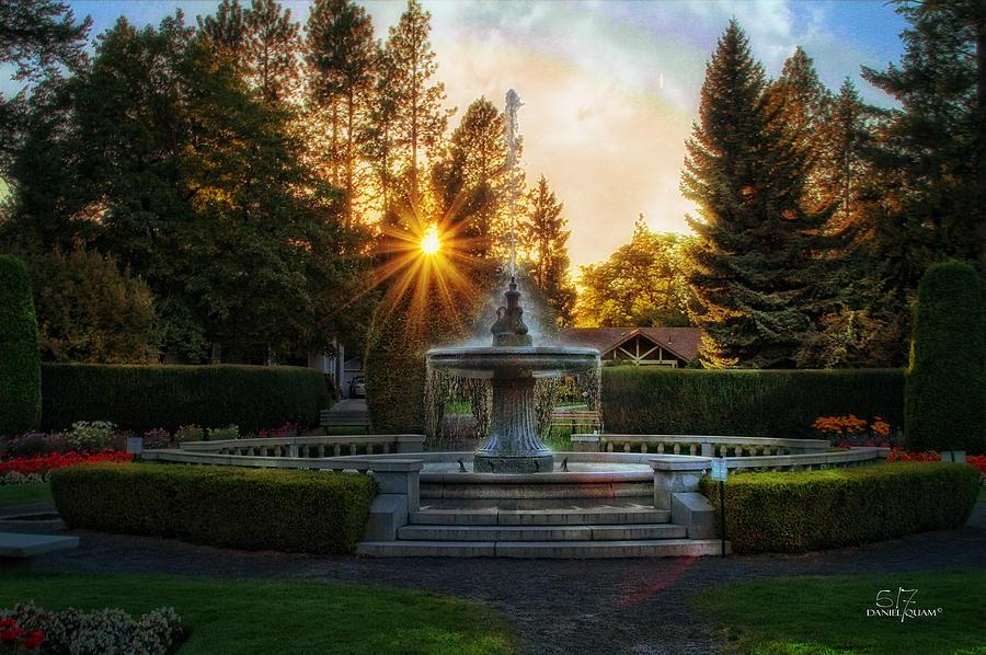 Spokane Wa Photograph - Duncan Gardens Water Fountain by Dan Quam