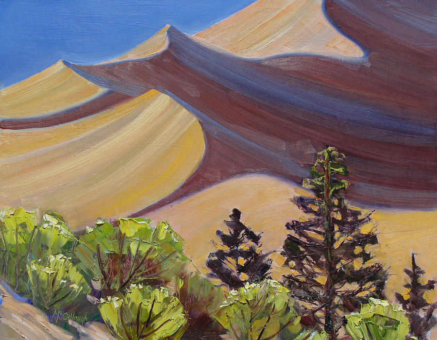 Great Sand Dunes National Park Painting - Dune Field by Susan McCullough