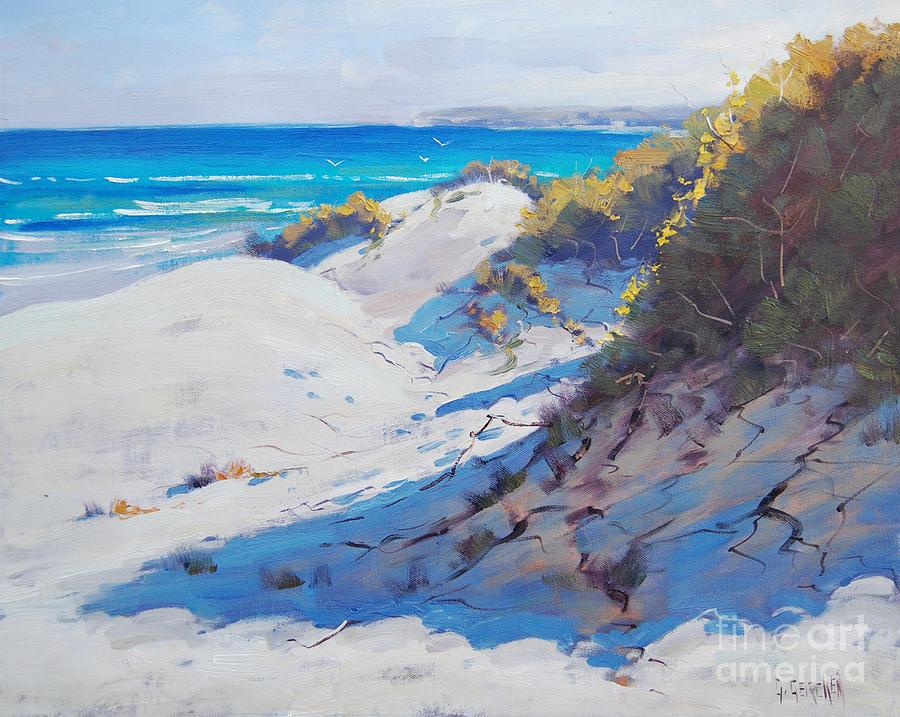 Seascape Painting - Dune Light by Graham Gercken