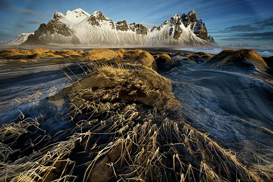 Iceland Photograph - Dunes And Sea Interact by Trevor Cole