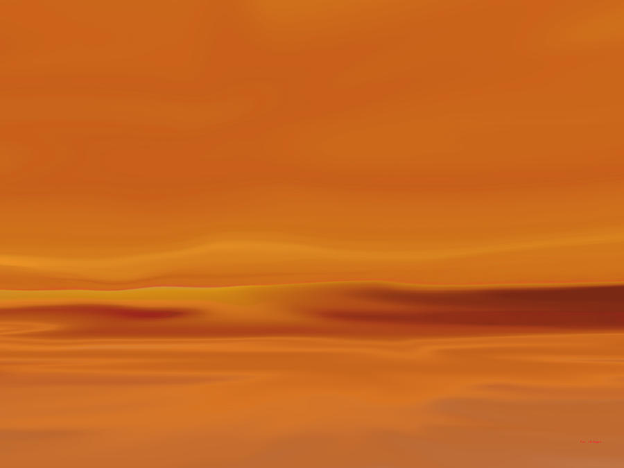 Abstract Painting - Dunes At Sunset by Tim Stringer