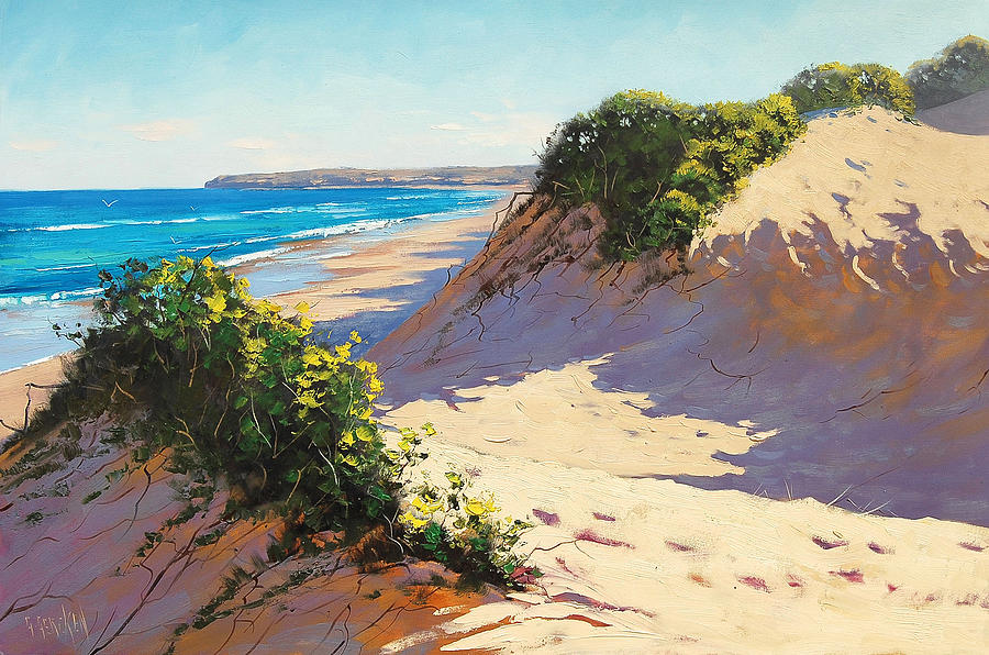 Beach Painting Painting - Dunes Central Coast by Graham Gercken
