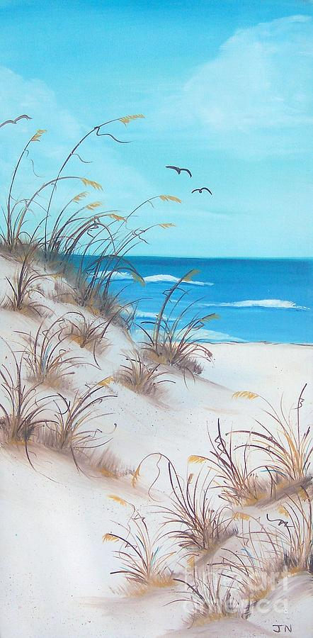 Oil Painting - Dunes Day by JoNeL Art