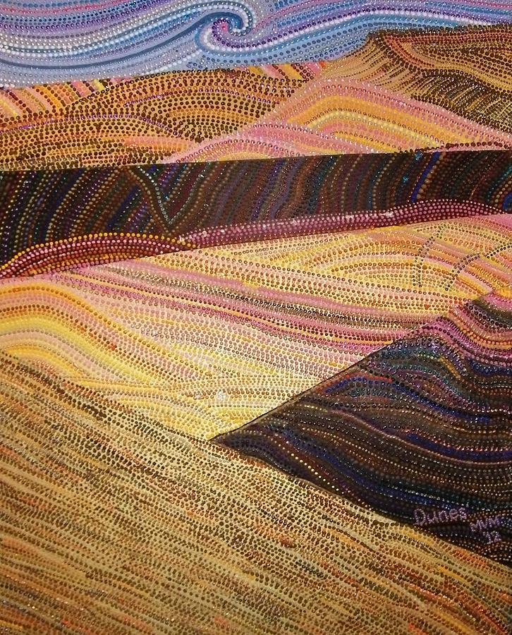 Landscape Mixed Media - Dunes by Maria VanderMolen