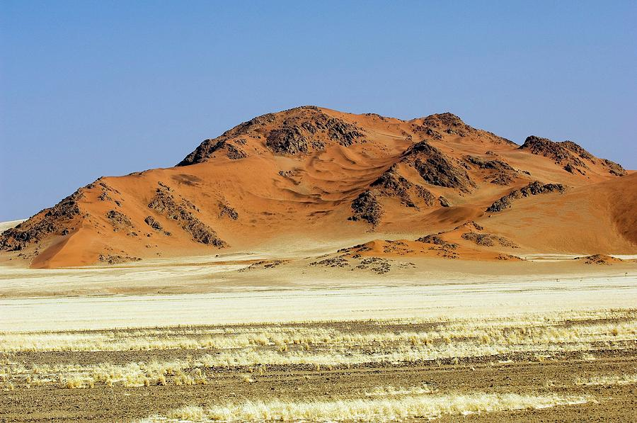 Dune Photograph - Dunes Surrounding The Sossusvlei Clay Pan by Tony Camacho/science Photo Library