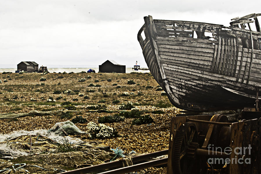 Dungeness Photograph - Dungeness Landscape by Lesley Rigg