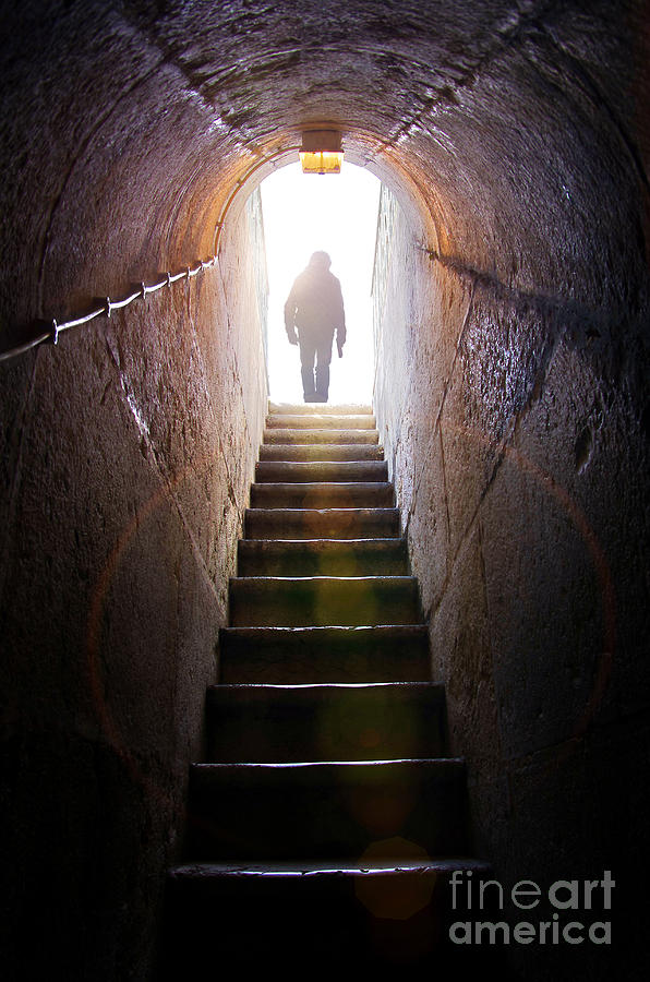 Above Photograph - Dungeon Exit by Carlos Caetano