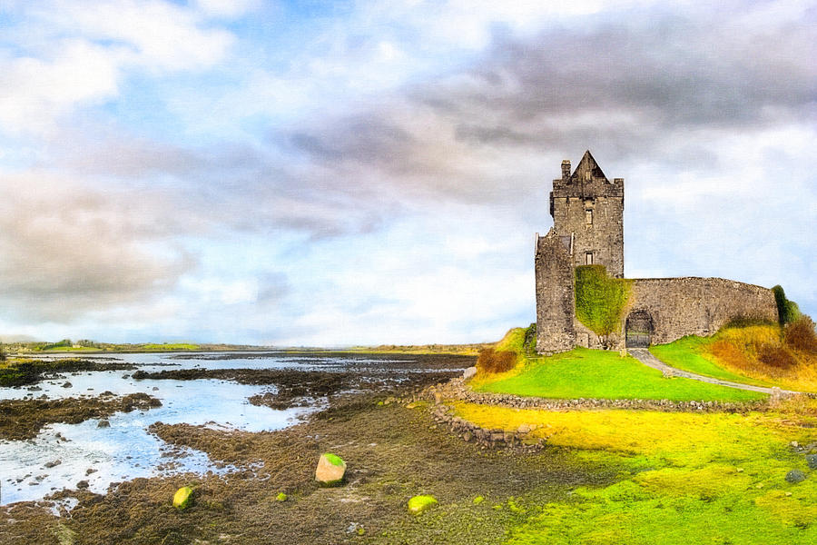 Galway Photograph - Dunguaire Castle In County Galway Ireland by Mark E Tisdale