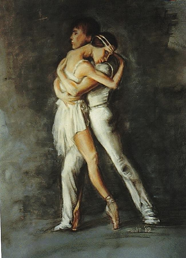 Painting Painting - Duo Dance by Podi Lawrence