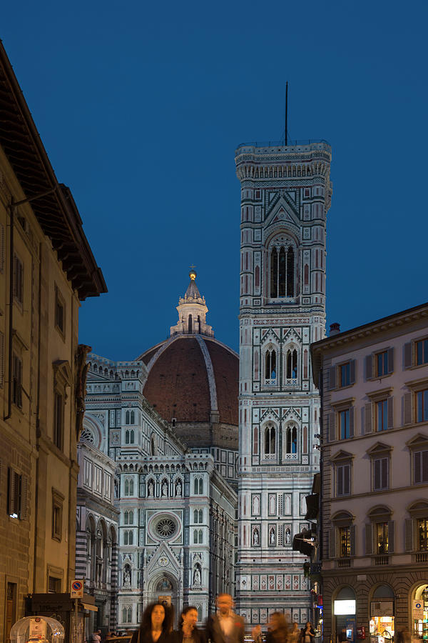 Duomo And Campanile At The Blue Hour Photograph by Izzet Keribar