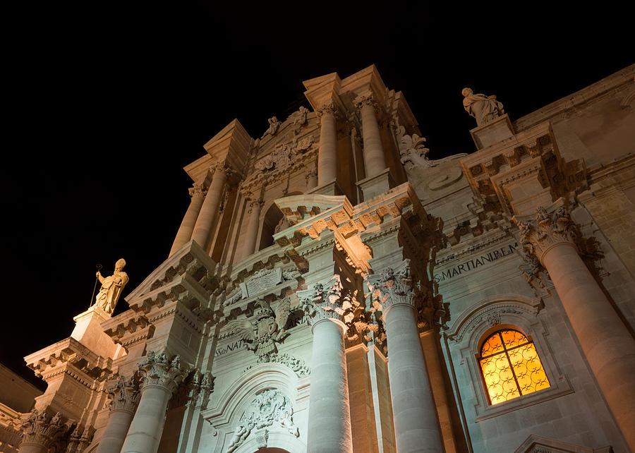 Cathedral Photograph - Duomo - Cathedral - Siracusa - Syracuse - Sicily - Italy by Georgia Mizuleva