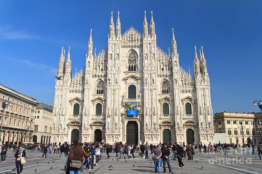 Ancient Photograph - Duomo In Milano. Italy by Antonio Scarpi