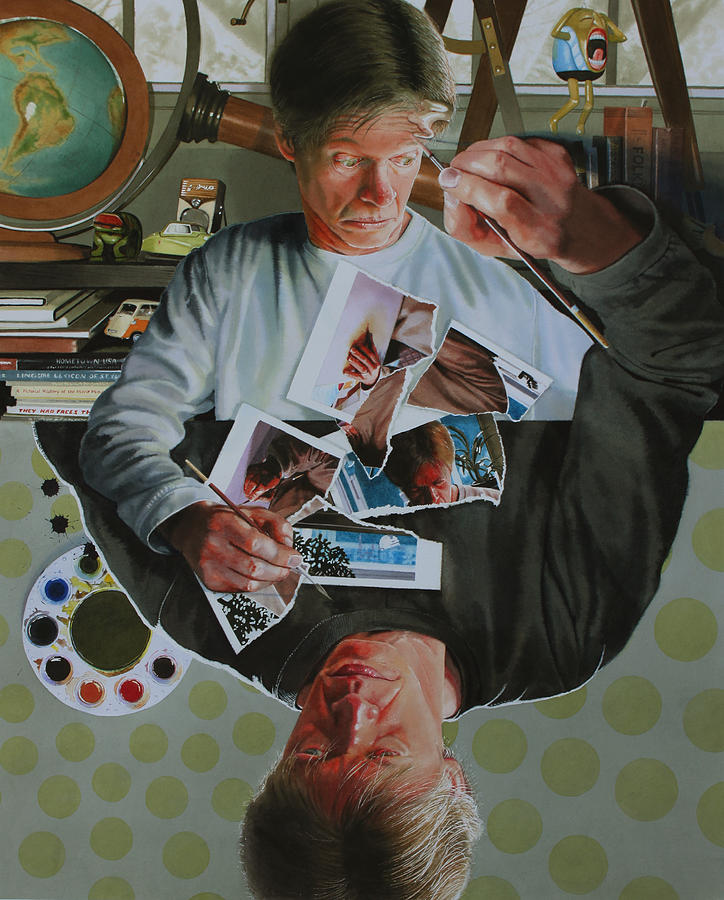Self Portrait Painting - Duplicated by Denny Bond