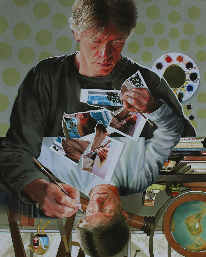 Self Portrait Painting - Duplicated2 by Denny Bond