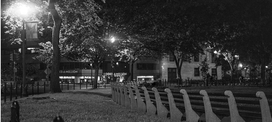 Bench Photograph - Dupont Circle Panorama by Michael Williams