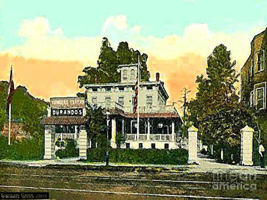 Taverns Painting - Durandos Tavern In Yonkers N Y In 1915 by Dwight Goss