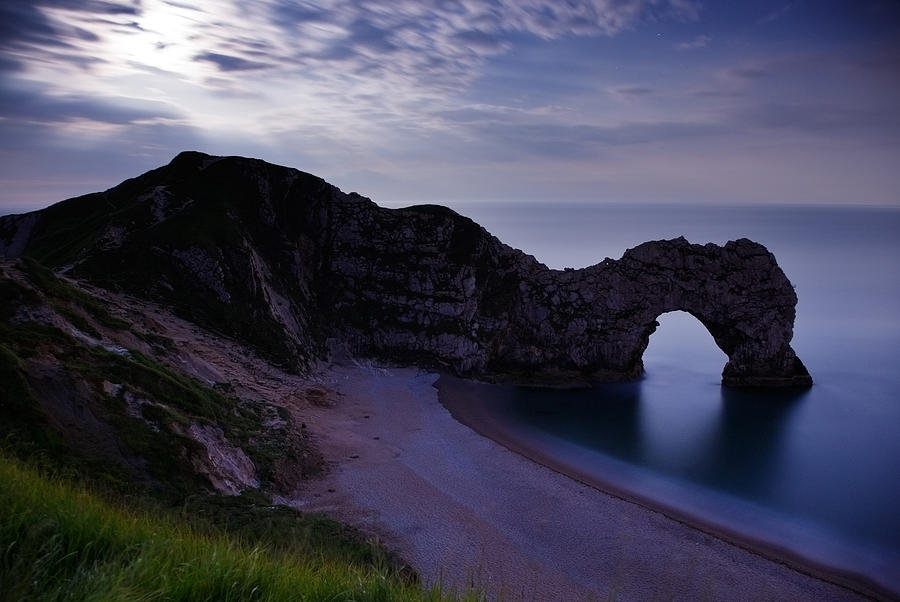 Durdle Photograph - Durdle Door Under A Moonlit Sky by Ian Middleton