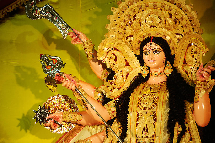 India Photograph - Durga Idol by Money Sharma