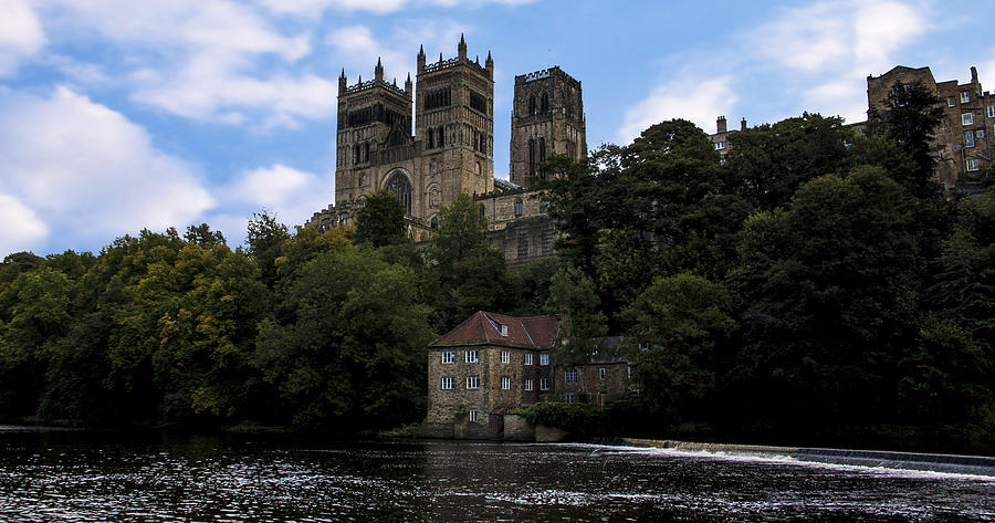 River Wear Photograph - Durham Cathedral And Fulling Mill by Trevor Kersley