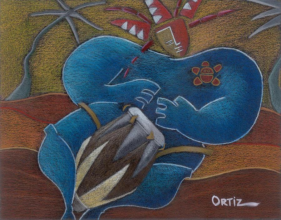 Puerto Rico Painting - Duro A Los Cueros by Oscar Ortiz