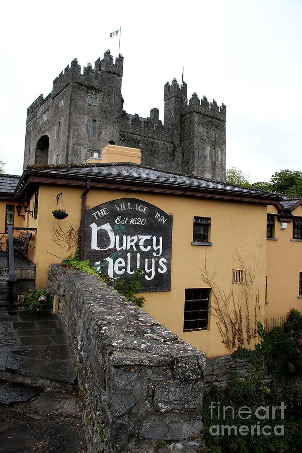 Pub Photograph - Durty Nellys And Bunraty Castle by Christiane Schulze Art And Photography