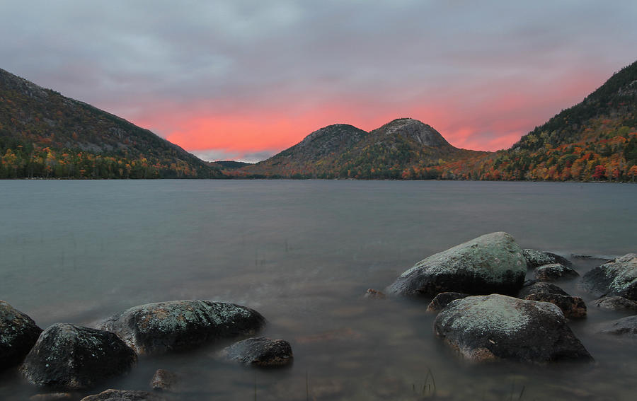 Landscape Photograph - Dusk At Jordan Pond And The Bubbles by Juergen Roth
