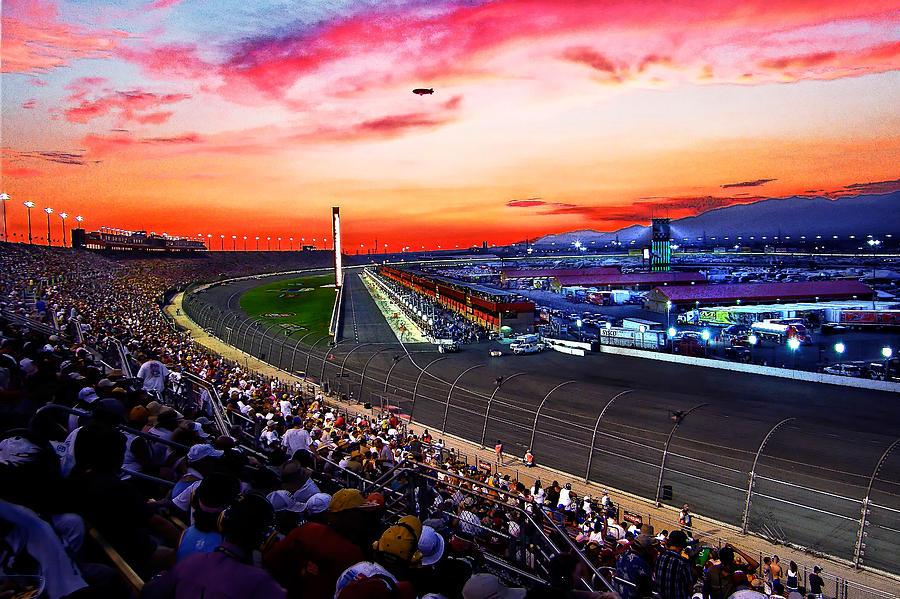 Racetrack Photograph - Dusk At The Racetrack by Wayne Wood