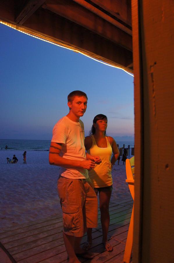 Beach Photograph - Dusk Couple by JD Harvill