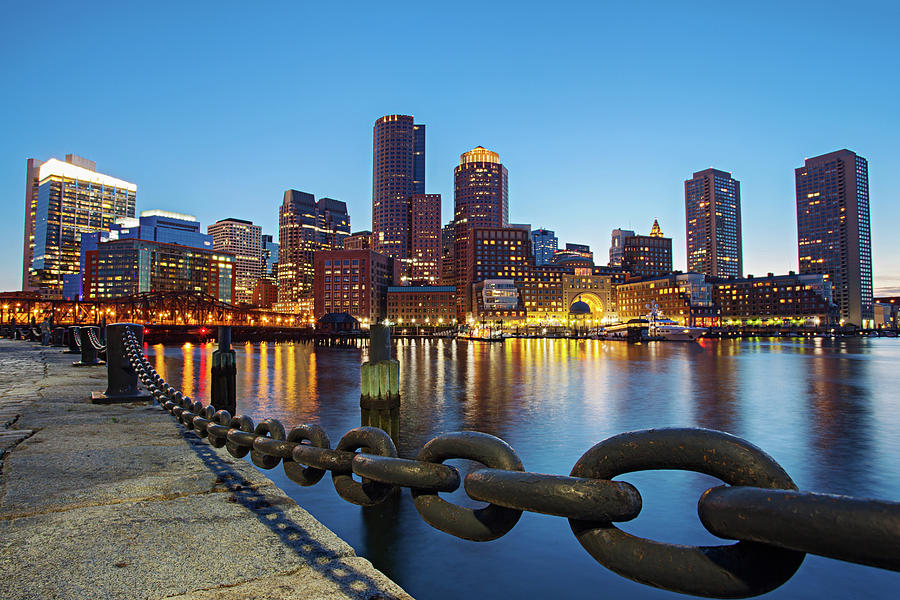 Dusk In Boston Photograph by Photography By Nick Burwell