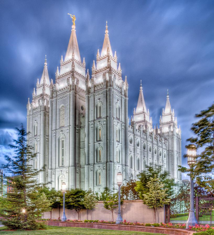 Temple Photograph - Dusk by Niels Nielsen