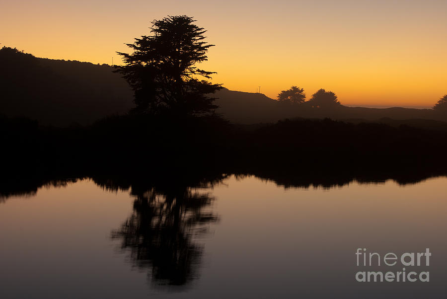 Russian River Photograph - Dusk On Russian River - 7059 by Stephen Parker