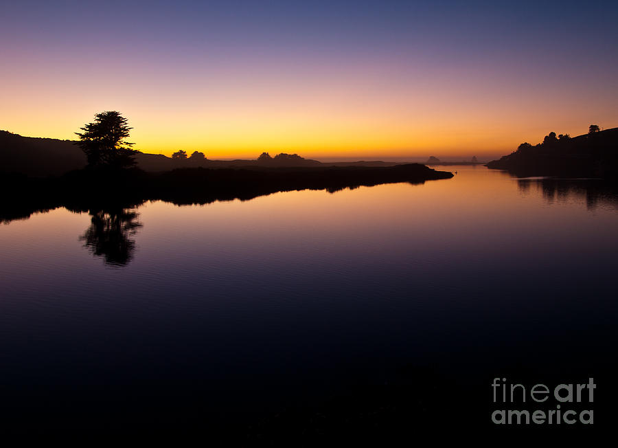 Sonoma County Photograph - Dusk On Russian River 2.2751 by Stephen Parker