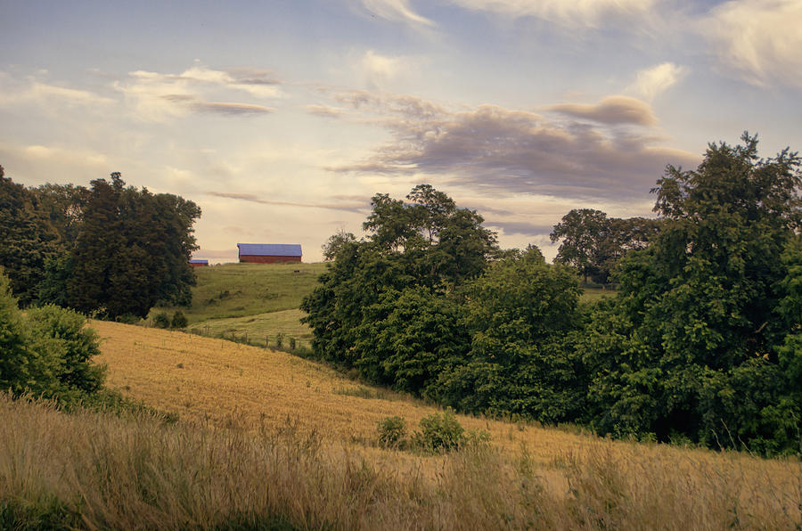 Farm Photograph - Dusk On The Farm by Heather Applegate