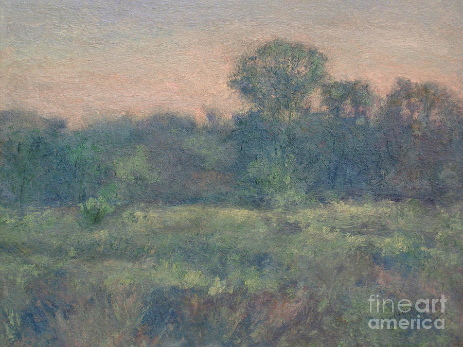 Meadow Painting - Dusk On The Meadow by Gregory Arnett