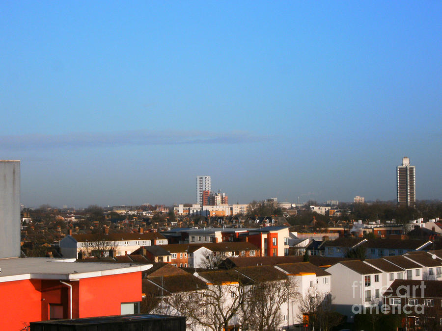 Landscape Photograph - Dusk Over Plaistow And East-north London  by Mudiama Kammoh