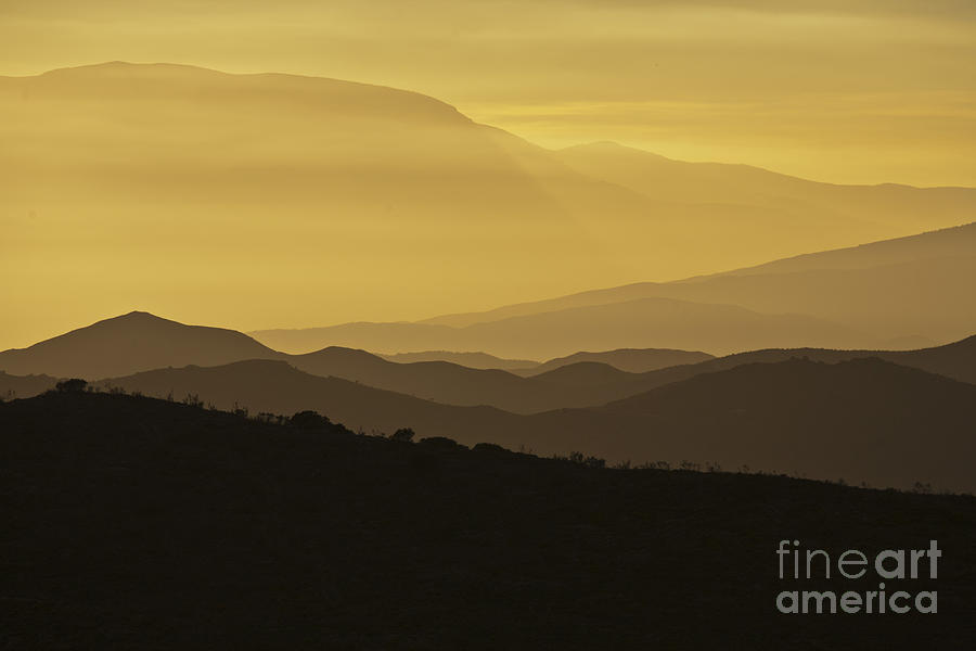 Dusk Over The Spanish Hills Of Andalusia Photograph