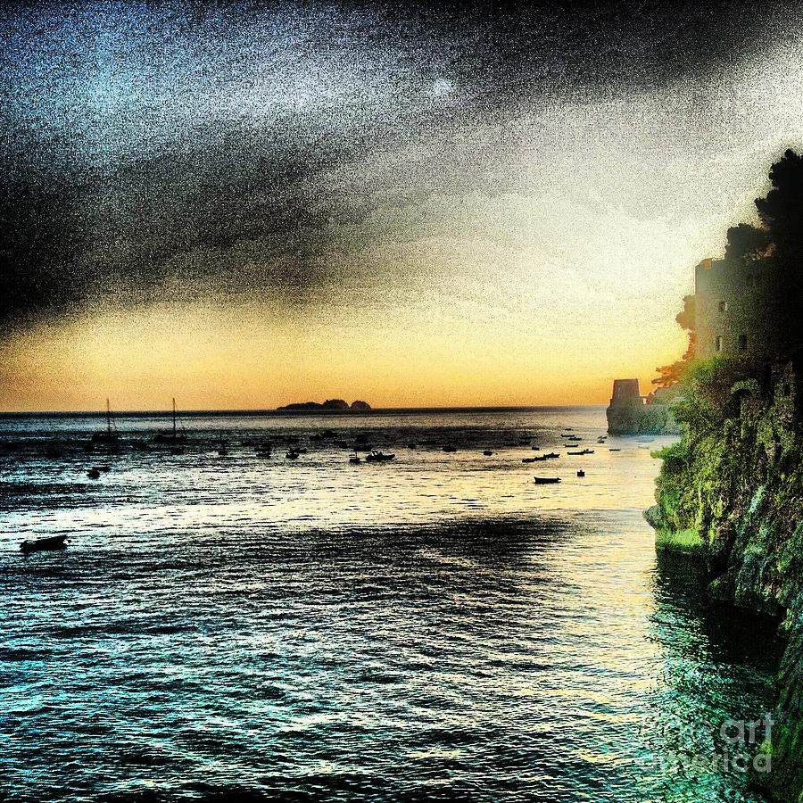 Positano Photograph - Dusk Settles In A Dream by H Hoffman