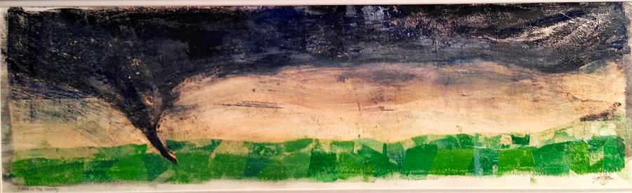 Tornado Mixed Media - Dusk Twister by Jame Hayes