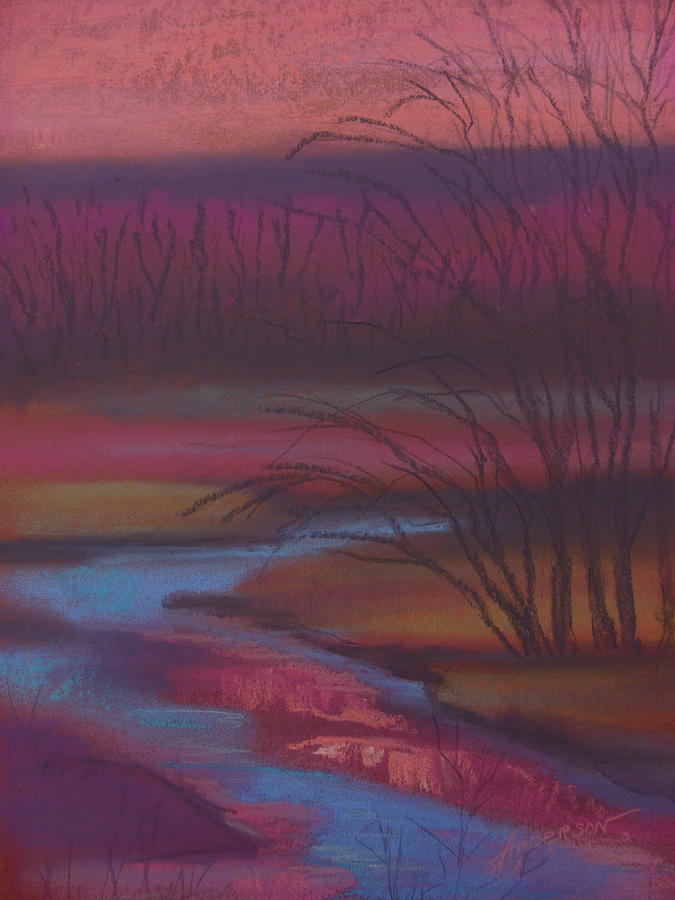 Landscape Pastel - Dusky Drama At Catfish Corner by Sherri Anderson
