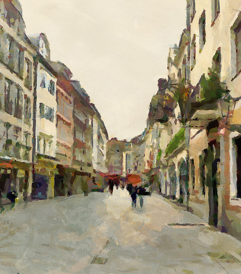 Dusseldorf Digital Art - Dusseldorf Old Town Street 2 by Yury Malkov