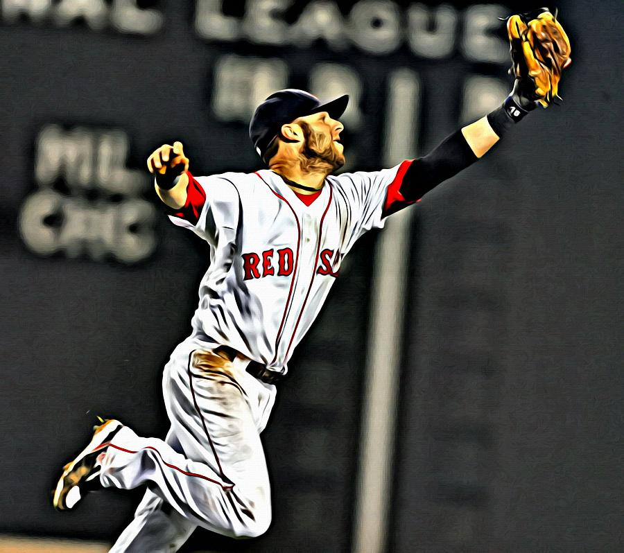 Dustin Pedroia Painting Painting By Florian Rodarte