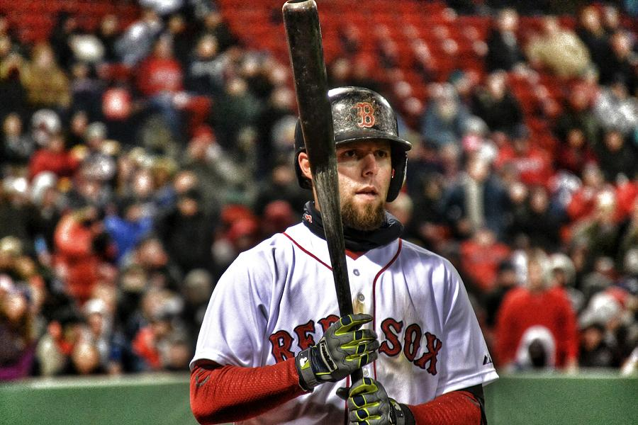 Red Sox Photograph - Dustin Pedroia by SoxyGal Photography