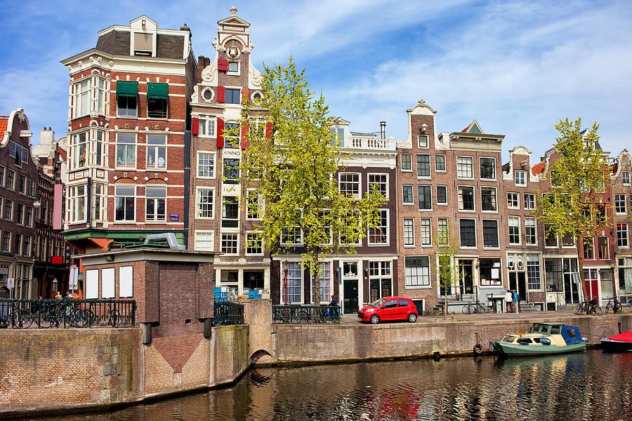 Amsterdam Photograph - Dutch Canal Houses In Amsterdam by Artur Bogacki