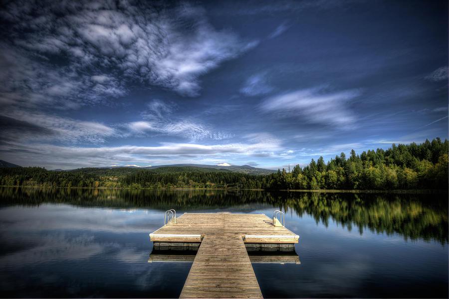 Dutch Lake Autumn Reflection Photograph by Howard Kilgour