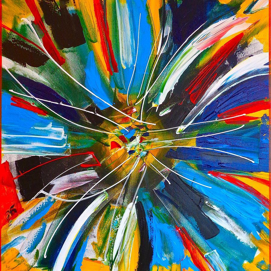 Blue Painting - Dutch Spin by Rob Van Heertum