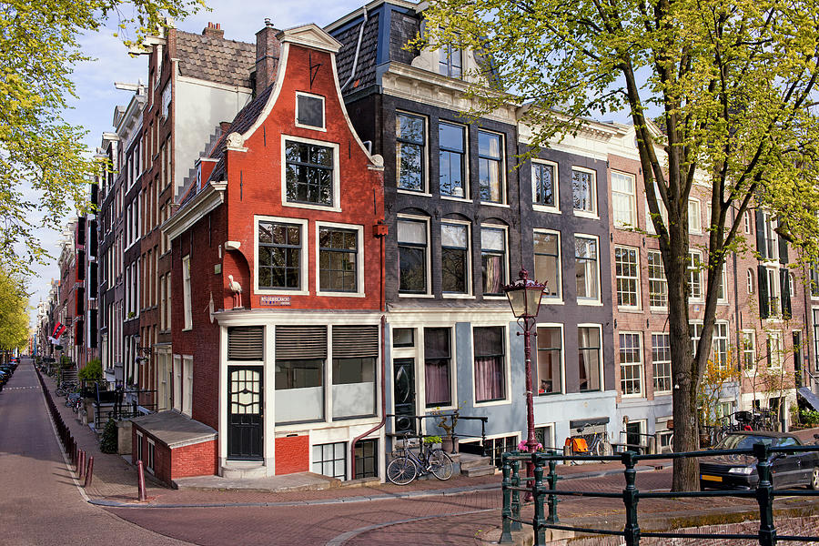 Amsterdam Photograph - Dutch Style Traditional Houses In Amsterdam by Artur Bogacki