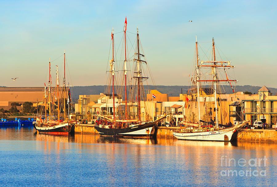 Dutch Tall Ships Docked Photograph by Bill  Robinson