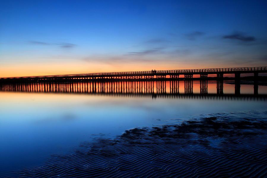 Duxbury Beach Powder Point Bridge Twilight Photograph
