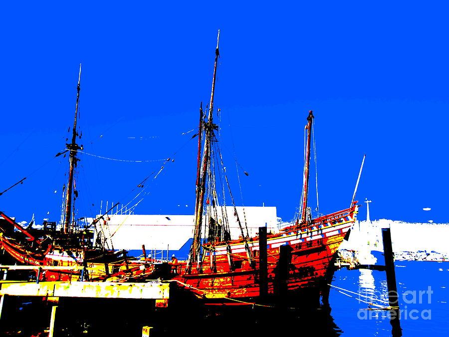 Boat Photograph - Duyfken 1606 In Fremantle by Roberto Gagliardi